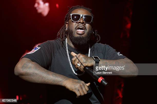 Music artist T-Pain performs on stage at Power 106's Cali Christmas 2016 at The Forum on December 2, 2016 in Inglewood, California.