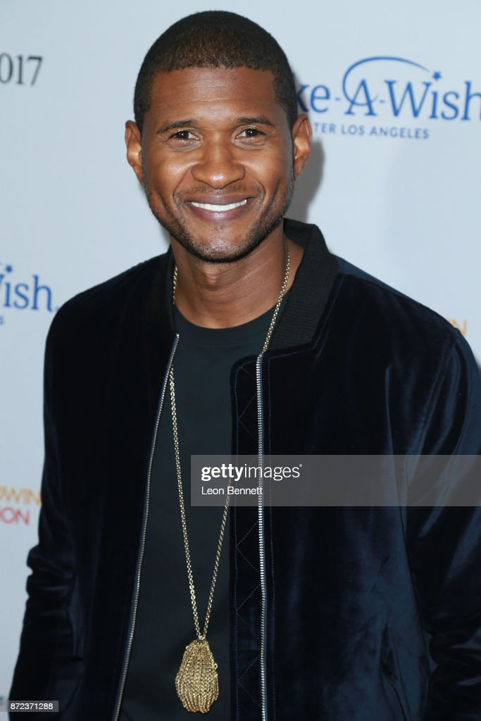Music artist Usher attends the Make-A-Wish Greater Los Angeles 2017 Wish Gala at Hollywood Palladium on November 9, 2017 in Los Angeles, California.