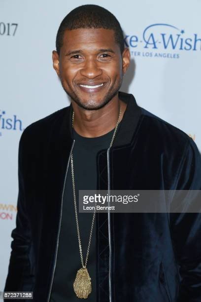 Music artist Usher attends the MakeAWish Greater Los Angeles 2017 Wish Gala at Hollywood Palladium on November 9 2017 in Los Angeles California
