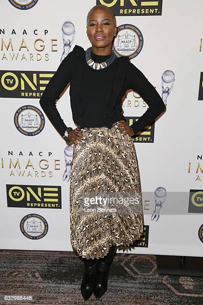 Music artist V Bozeman arrives at the 48th NAACP Image Awards Nominees' Luncheon at Loews Hollywood Hotel on January 28 2017 in Hollywood California