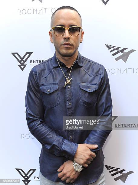 Music artist Yandel celebrates the Puerto Rican Day Parade at China Grill on June 12 2016 in New York City