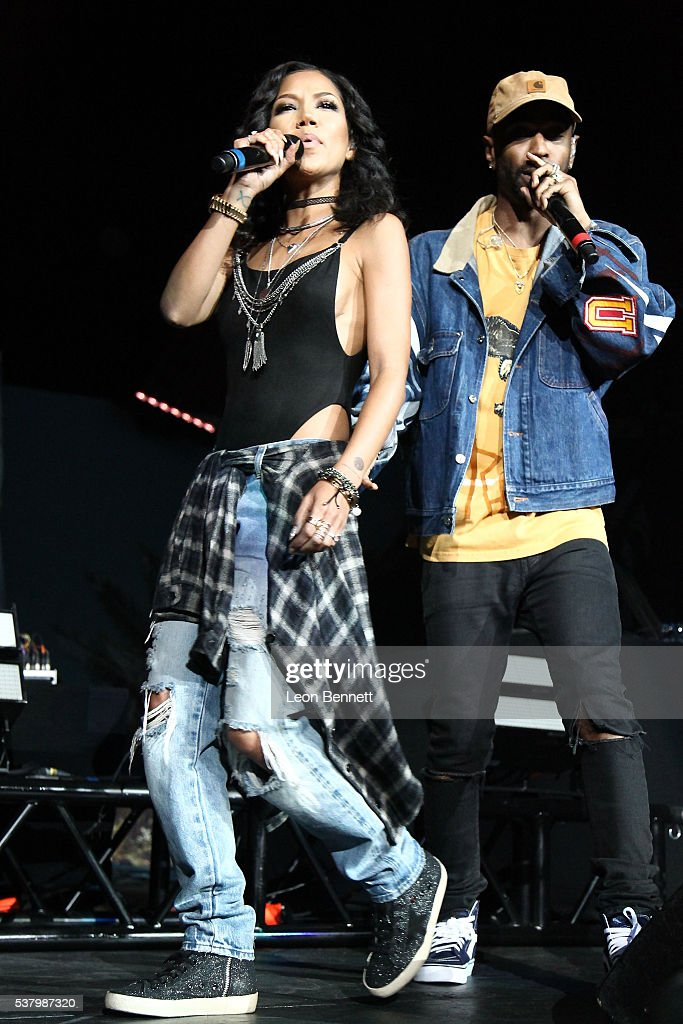 Music artists Jhene Aiko and Big Sean perform during the Power 106 Presents Powerhouse at Honda Center on June 3, 2016 in Anaheim, California.