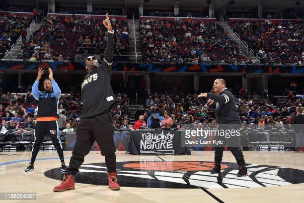 Music artists, Naughty By Nature performs during halftime on December 11, 2019 at Rocket Mortgage FieldHouse in Cleveland, Ohio. NOTE TO USER: User...