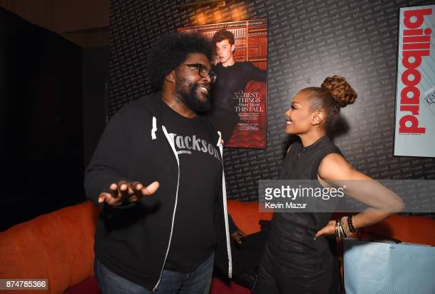 Music artists Questlove and Janet Jackson attend Janet Jackson Barclays After Party at Barclays Center on November 15 2017 in New York City