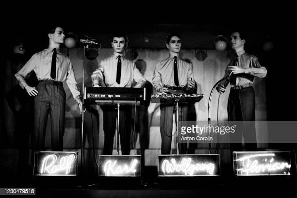 October 10: Music band Kraftwerk poses for a portrait in Paris, on October 10, 1978.