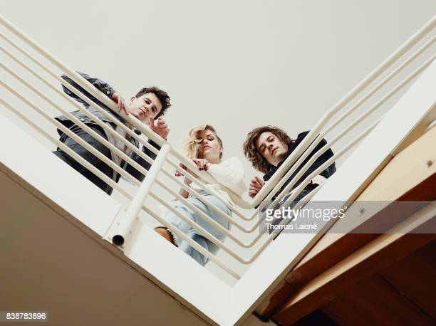 Music band London Gramma are photographed on March 10 2017 in Paris France