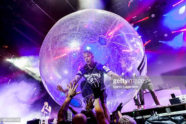 Music band Major Lazer performs on July 4 2015 in Paris France