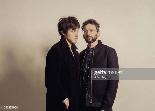 Music Band MGMT poses for a portrait on November 2018 in Paris France