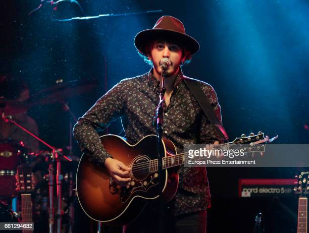 Music band Morat performs in concert at Sala But on March 30 2017 in Madrid Spain