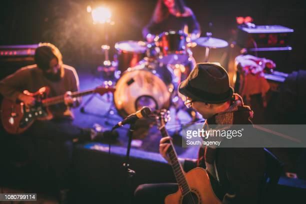 Music band rehearsal