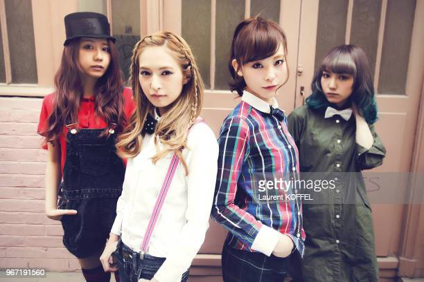 Music Band Scandal is photographed for Self Assignment on April 25 2015 in Paris France