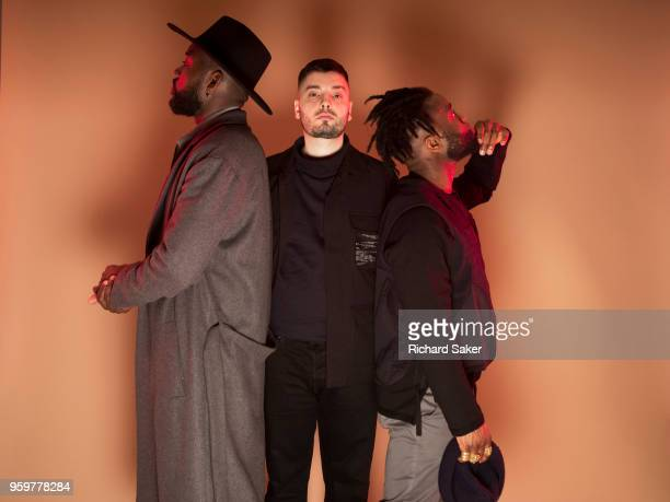 Music band Young Fathers is photographed for the Observer on January 29 2018 in London England