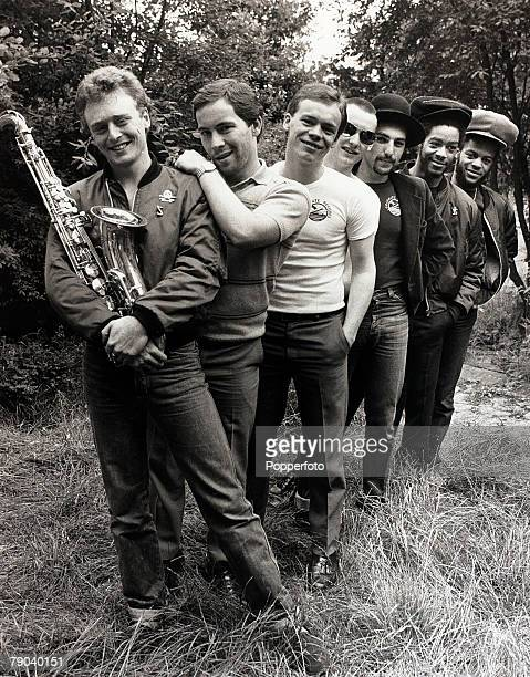 Music Birmingham England 8th July 1980 English band UB40 are pictured before a concert in their home town