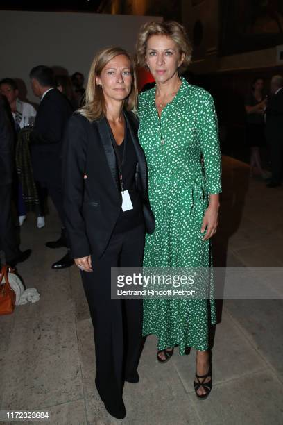 "Music Booking of the Opera Anne Gravoin and actress Corinne Touzet attend the ""Tosca - Opera en Plein Air"" performance at Les Invalides on September..."