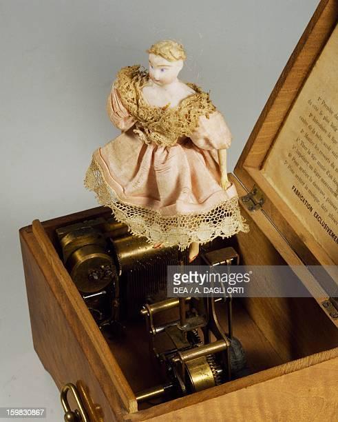 Music box with ballerina Detail France late 19th century Milan Museo Del Giocattolo E Del Bambino