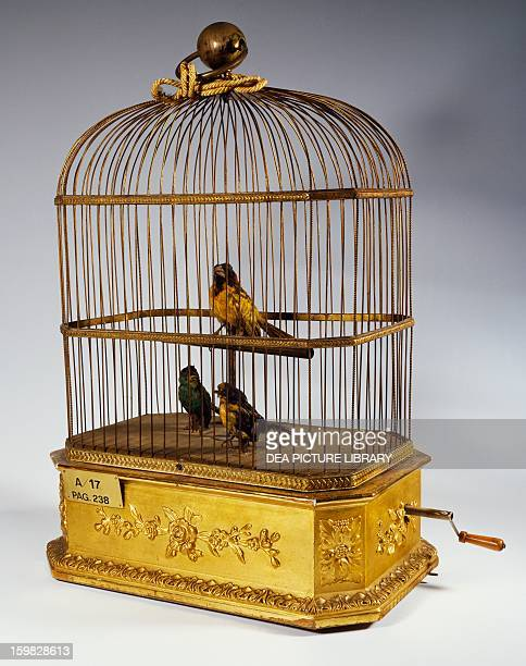 Music box with singing birds in a cage 19th century