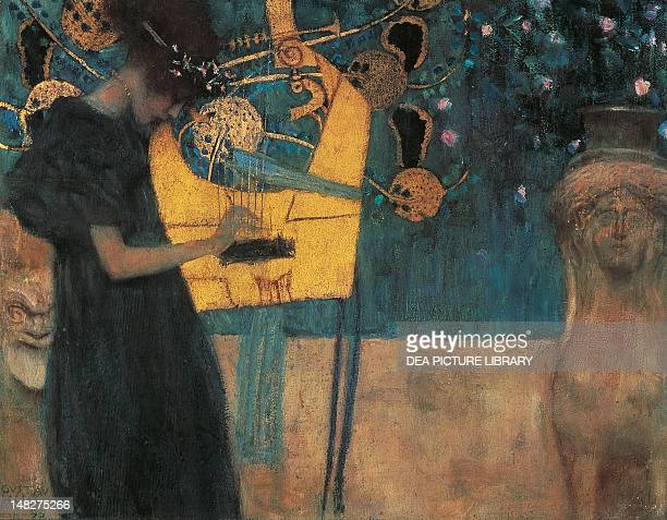 Music by Gustav Klimt cartoon for the Stoclet Frieze 37x44 cm Monaco Neue Pinakothek