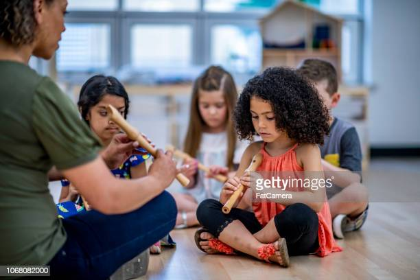 music class - recorder musical instrument stock photos and pictures