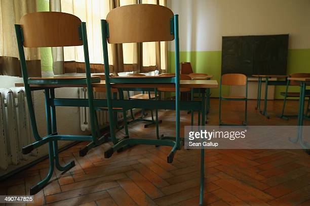 A music classroom stands empty at the Middle School on May 14 2014 in Seifhennersdorf Germany The state of Saxony officially closed the...