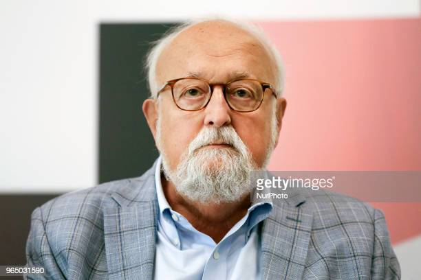 Music composer Krzysztof Penderecki during the opening press conference of the annual Film Music Festival in Krakow Poland 30 May 2018