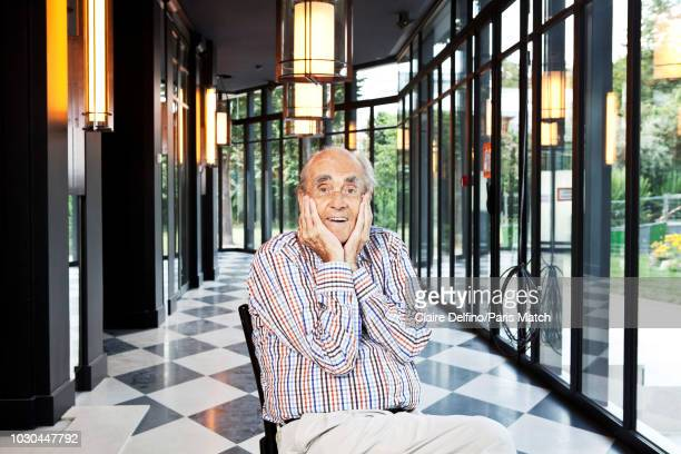 Music composer Michel Legrand is photographed for Paris Match on July 17 2018 in Paris France