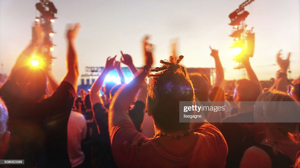 Music concert and crowd : Stock Photo