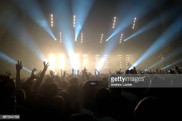 Music concert crowd
