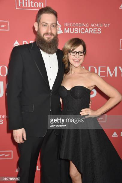 Music coordinator Roey Hershkovitz musician Lisa Loeb attend MusiCares Person of the Year honoring Fleetwood Mac at Radio City Music Hall on January...
