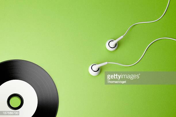 Music. Creativity Concepts Ideas Sex Headphones CD Sperm Record
