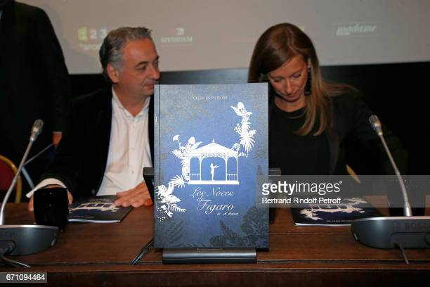 Music Direction of the Opera Yannis Pouspourikas and Music Booking Orchestra of the Opera Anne Gravoin attend the 'Opera En Plein Air 2017' Press...