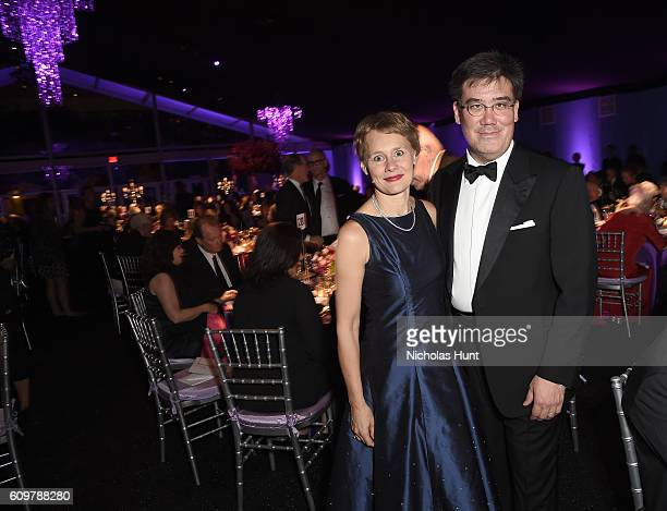 Music Director Alan Gilbert and Kajsa WilliamOlsson attend New York Philharmonic's Opening Gala Celebrating the 175th Anniversary Season at David...