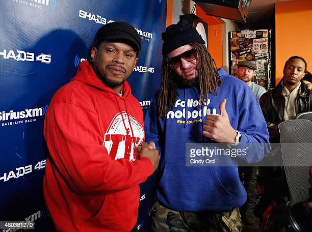 BET Music Director Buttah Man visits 'Sway in the Morning' with Sway Calloway on Eminem's Shade 45 at the SiriusXM Studios on December 12 2014 in New...