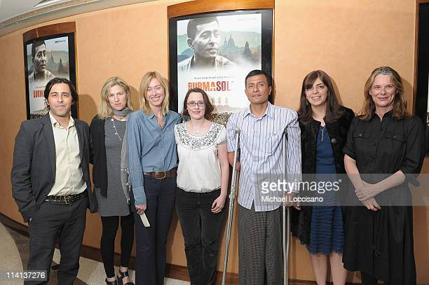 Music director Paul Brill filmmakers Ricki Stern and Annie Sundberg editor Sinead Kinnane film subject Myo Myint SVP of HBO Documentary Films Nancy...