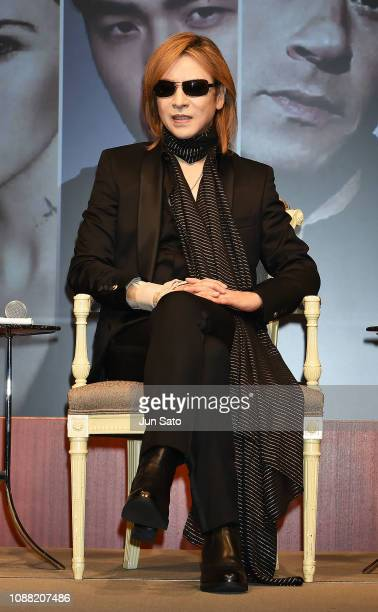 Music director Yoshiki attends the press conference for 'xXx 4' at the Park Hyatt Hotel on January 25 2019 in Tokyo Japan
