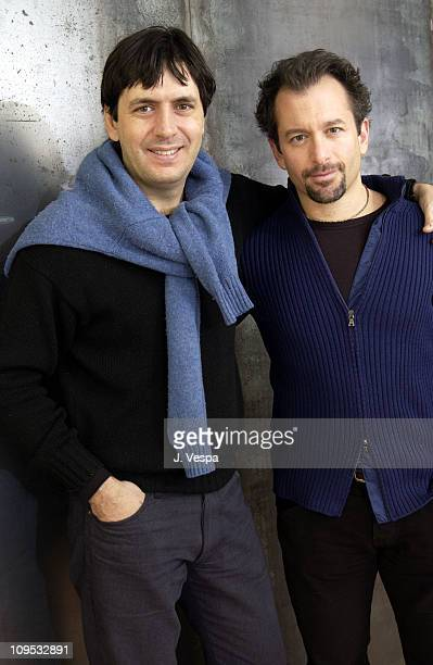 Music editor Andrea Morricone and director/producer Andrew Jarecki