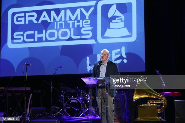 Music Educator Award recipient Keith Hancock attends the annual GRAMMY In The Schools Live – A Celebration of Music Education presented by Ford Motor...
