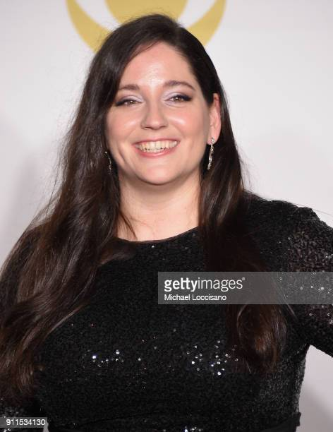 Music Educator Award winner Melissa Salguero poses in the press room during the 60th Annual GRAMMY Awards at Madison Square Garden on January 28 2018...