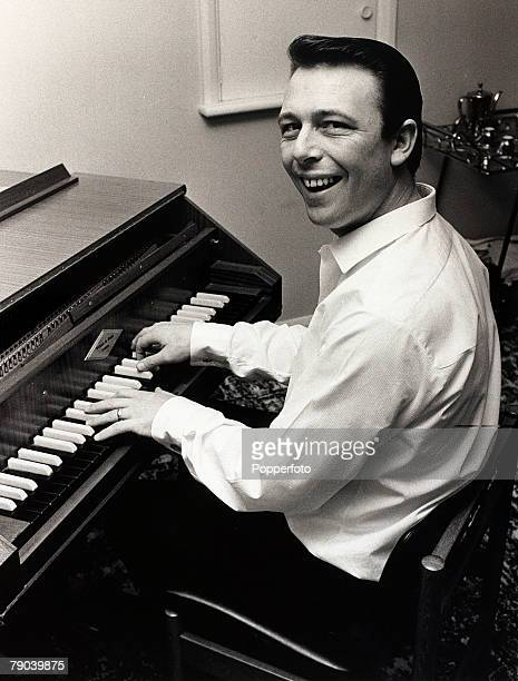 Music England 7th October 1967 Pop composer Les Reed pictured at work composing on a harpsichord previously owned by Beatle John Lennon