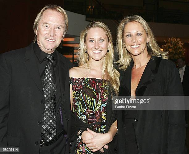 Music entrepreneur Glenn Wheatley his wife Gaynor and daughter Kara arrive at the APRA Music Awards at the Four Seasons Hotel on May 30 2005 in...