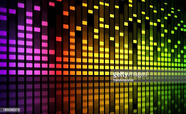music equaliser blurred graph - equaliser stock pictures, royalty-free photos & images