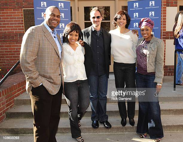 Music Executive Big Jon Platt Recording Artist Erica Campbell of the Gospel Group Mary Mary Guest Angelia BibbsSanders VP Membership Recording...