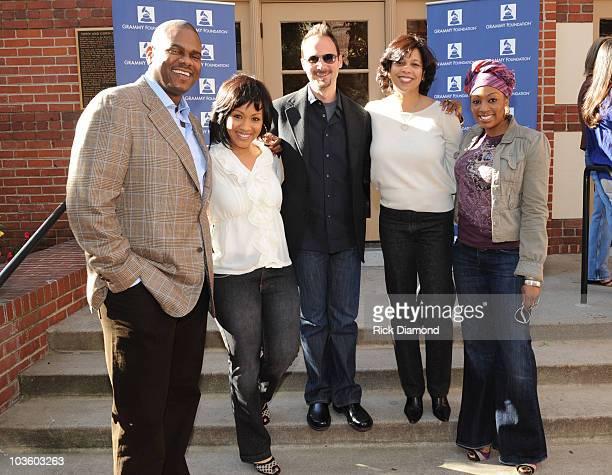 Music Executive Big Jon Platt, Recording Artist Erica Campbell of the Gospel Group Mary Mary, Guest, Angelia Bibbs-Sanders - VP Membership Recording...