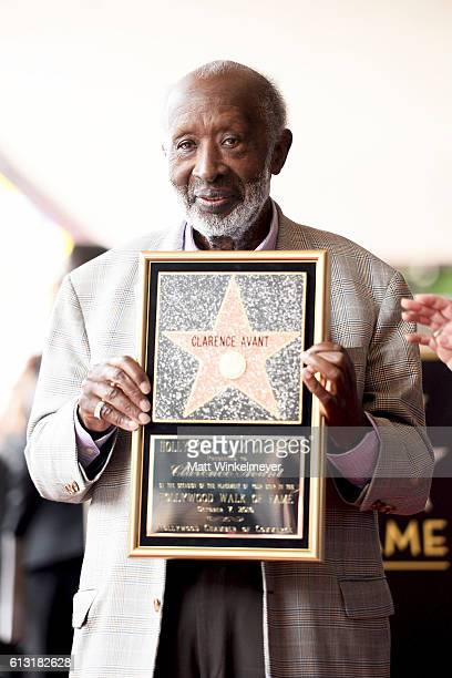 Music Executive Clarence Avant attends a ceremony honoring him with a star on the Hollywood Walk of Fame on October 7 2016 in Hollywood California