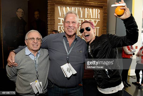 Music executive Irving Azoff producer Steve Tisch and actor Jared Leto attend the Vanity Fair New Establishment Summit at Yerba Buena Center for the...