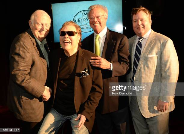 Music Executive Jerry Bradley CMHOF member Ronnie Milsap Music Producer Tom Collins and BMI Executive Bradley Collins attend the 2014 Country Music...