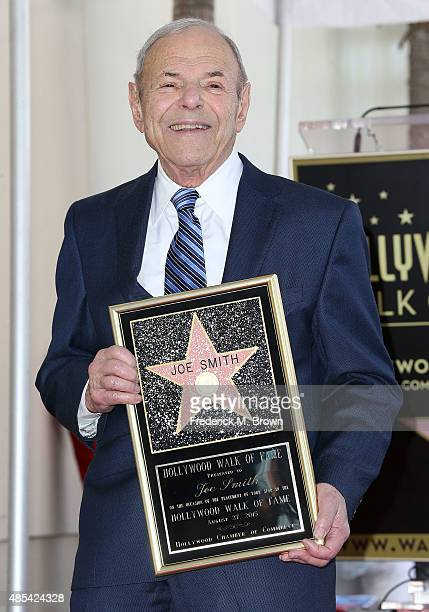 Music executive Joe Smith is honored with a Star on the Hollywood Walk of Fame during the installation ceremony on August 27 2015 in Hollywood...