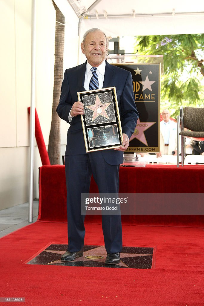 Music executive Joe Smith is honored with star on The Hollywood Walk of Fame on August 27, 2015 in Hollywood, California.