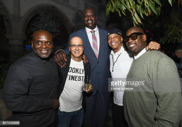 Music executive LA Reid Apple executive Jimmy Lovine former NBA player Shaquille O'Neal entrepreneur Russell Simmons and record producer Andre...