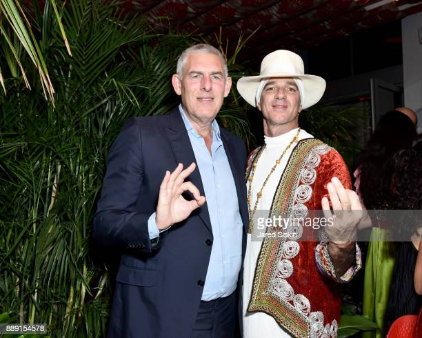 Music Executive Lyor Cohen and Hotelier Alan Faena attends the Gucci X Artsy dinner at Faena Hotel on December 6 2017 in Miami Beach Florida
