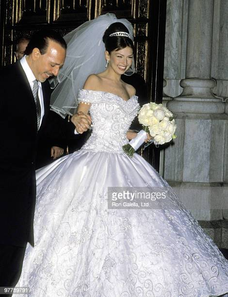 Music Executive Tommy Mottola And Singer Actress Thalia Sodi On December 2 2000 Leaving The